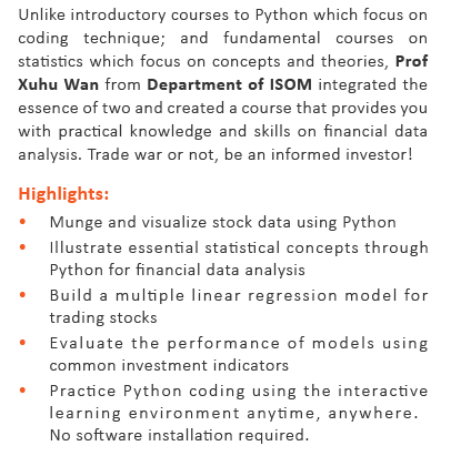 Coursera for HKUST - Be an informed investor with Python